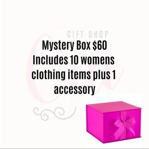MYSTERY BOX 10 Clothing Items plus 1 Accessory 😃